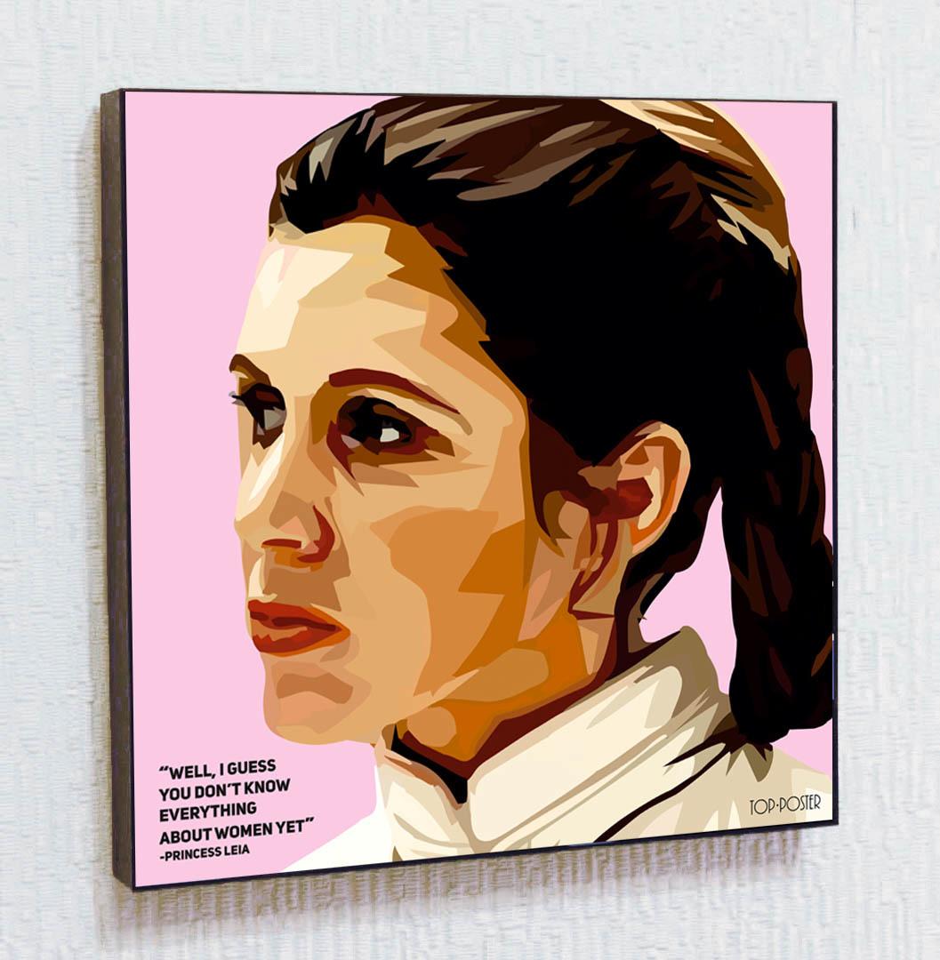 Принцесса Лея Картина ПОП-АРТ портрет постер