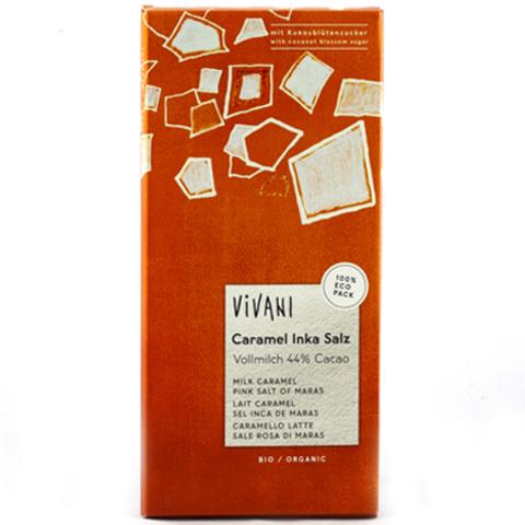 VIVANI Органический молочный шоколад солёная карамель, Vivani 80 г