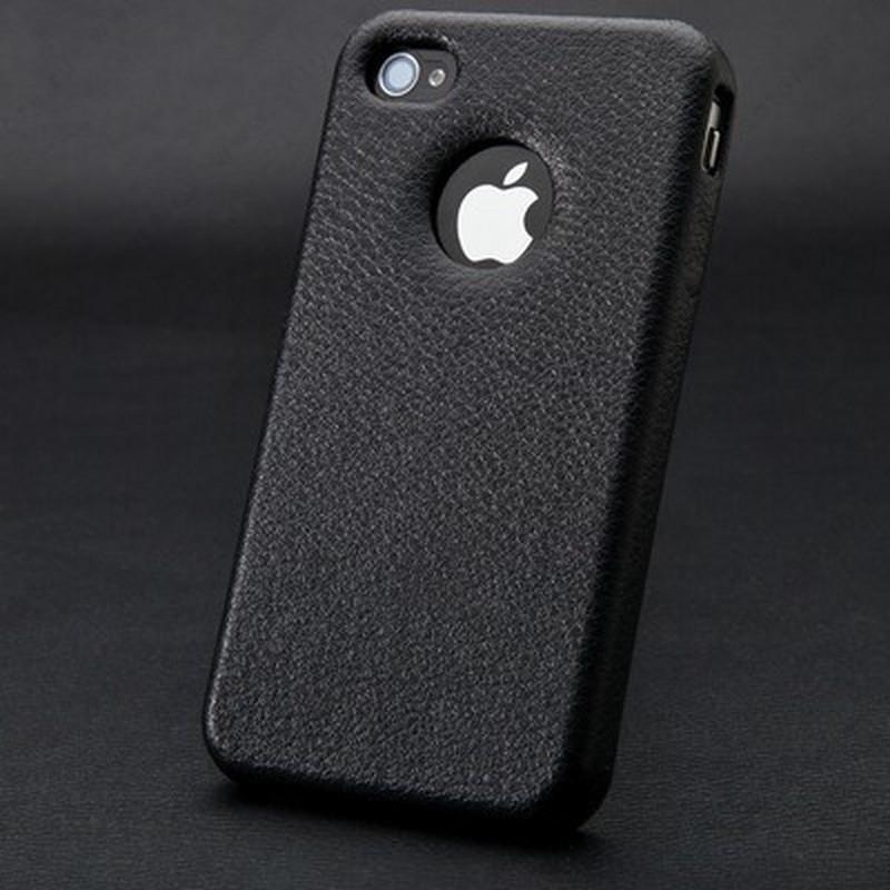 Накладка Jisoncase для iPhone 4s/ 4 черная JS-IP4S-005