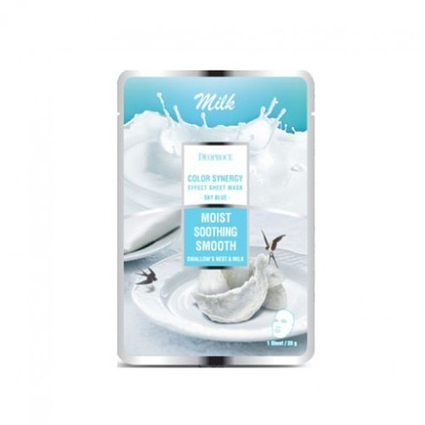 DEOPROCE SHEET Маска тканевая молочная DEOPROCE COLOR SYNERGY EFFECT SHEET MASK SKY BLUE 20g 20гр