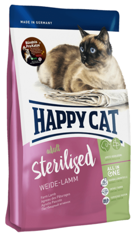 Корм Happy Cat - Sterilised Пастбищный ягненок, 10 кг.