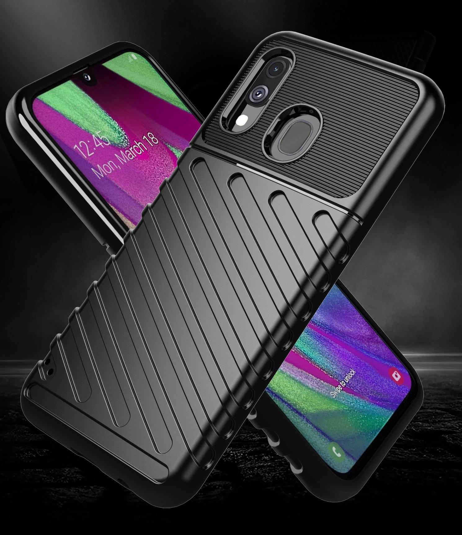 Чехол Samsung Galaxy A40 цвет Black (черный), серия Onyx, Caseport