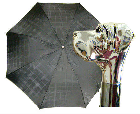 Зонт складной Pasotti 6434-6768 Silver Labrador