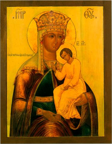 Икона Богородицы Избавительница от бед на дереве на левкасе мастерская Иконный Дом