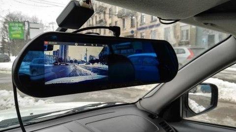 Видеорегистратор в зеркале XPX ZX807 2 камеры Full HD