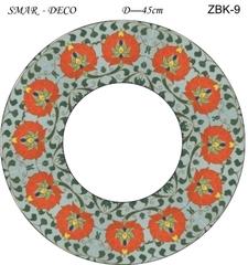 Эскиз для росписи, Зеркало диаметр-45см, SMAR-ZBK-9
