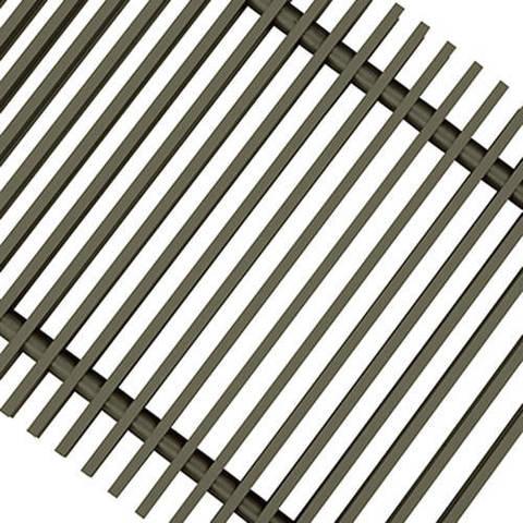 Решетка поперечная алюминиевая Techno шириной 300 мм, длина 1800 мм (цвет бронза)