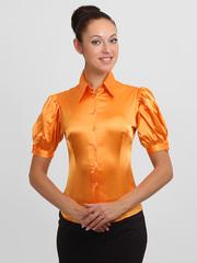 4143-1 блузка женская, оранжевая
