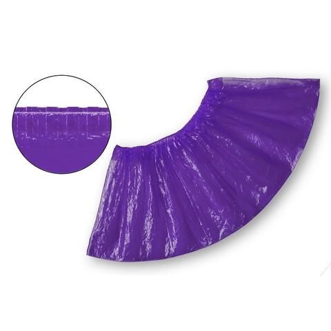 Бахилы одноразовые полиэтиленовые текстурированные 2.8 г фиолетовые (50 пар в упаковке)