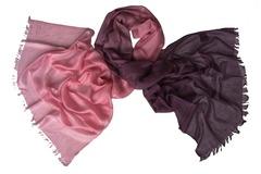 Палантин розово-коричневый шерстяной 0004