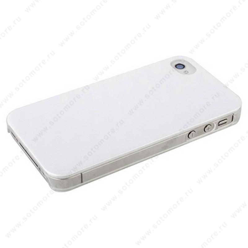 Накладка POMOSER для iPhone 4s/ 4 серебристая