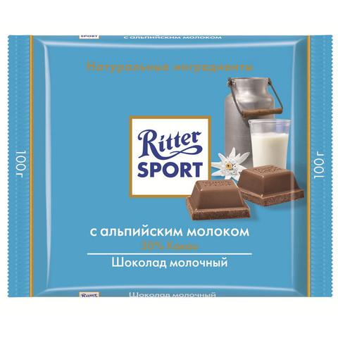 Шоколад Ritter Sport молочный с альпийским молоком 100 г