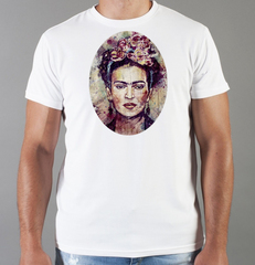 Футболка с принтом Фрида Кало (Frida Kahlo) белая 0015