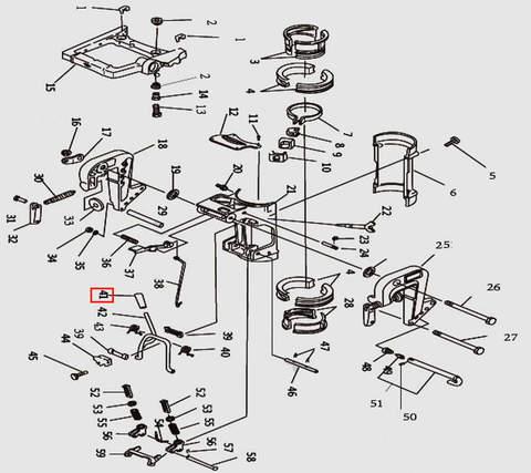 Ручка рамки наклона для лодочного мотора T9.8 Sea-PRO (11-41)