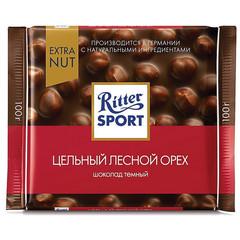 Шоколад Ritter Sport горький цельный орех 100г