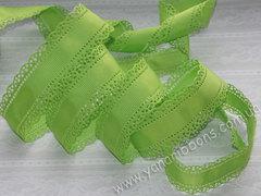 Лента репсовая Перфорированная зеленое яблоко ширина 30 мм