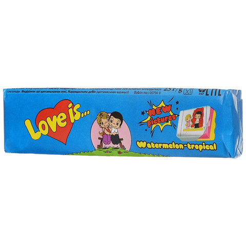 Жевательные конфеты Love Is - новые вкладыши, любимые вкусы (арбуз-тропик)