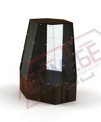 В-44 Витрина торговая угловая с наклонным стеклом