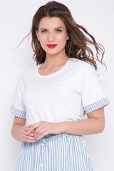 """<p>Отличный блузон для модных """"луков"""". Сочетается с юбкой """"Эмилия"""" и брюками """"Дина"""". (Длина: 46-52= 62 см)&nbsp;</p>"""