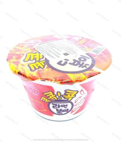 Корейская лапша (спагетти) с острым соусом Ottogi Hot Ramen Bokki, 120 гр.