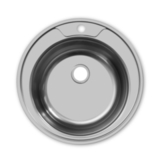 Мойка врезная  ECO круглая D490х165 мм,