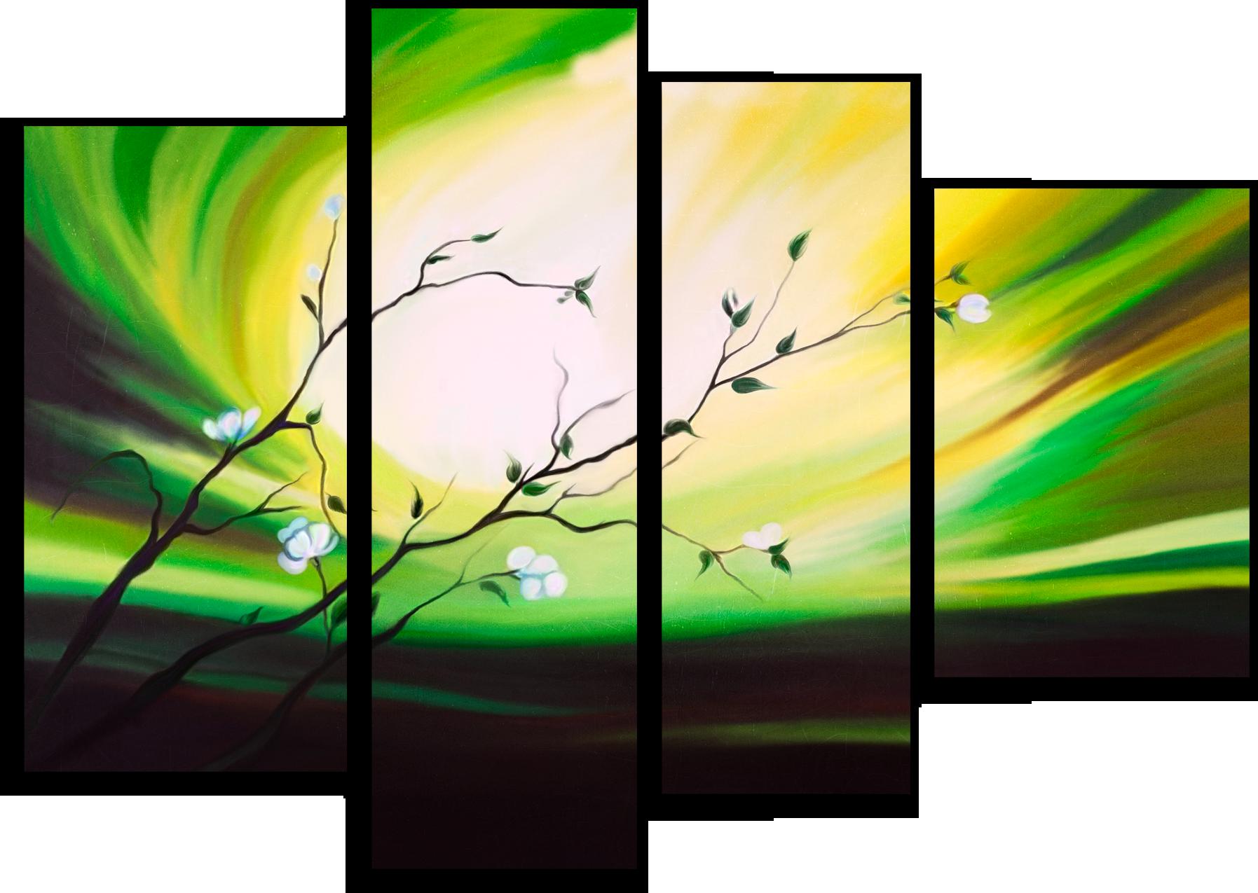 """Модульные картины Модульная картина """"Цветущая веточка"""" М63.png"""
