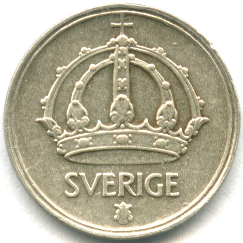 10 эре 1945 G. Швеция. Серебро XF