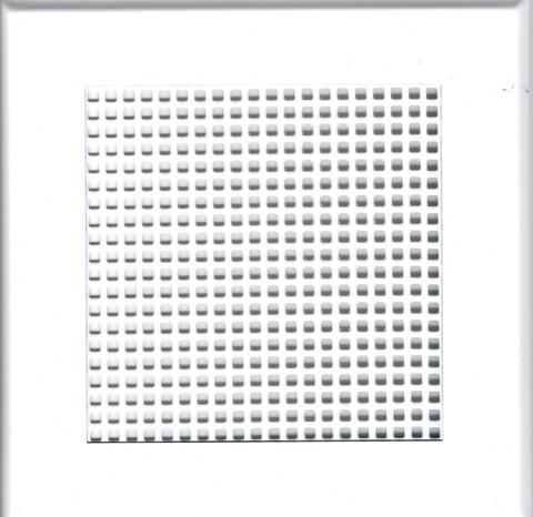Решётка на магнитах НЕО 2 150х150 белая, мелкая клетка