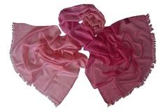 Палантин розовый шерстяной 0005