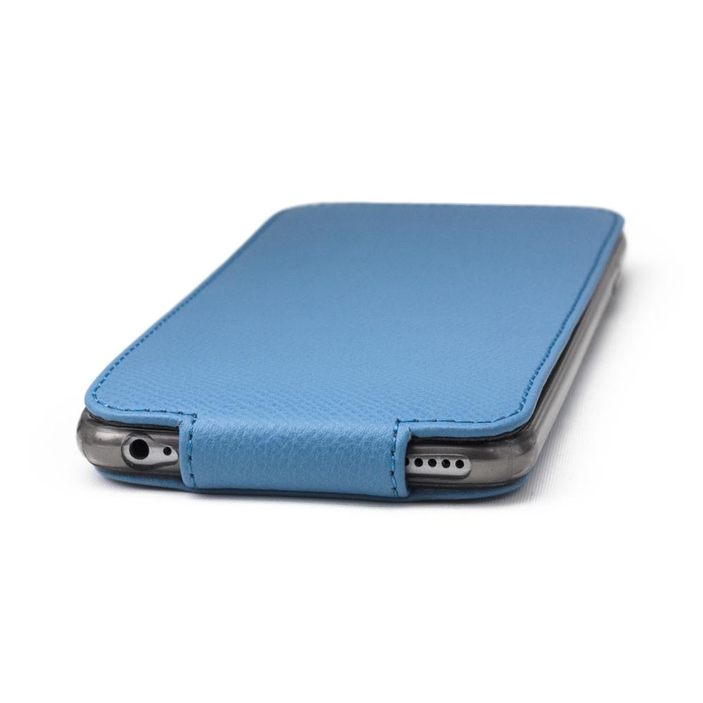 Чехол для iPhone 6/6S из натуральной кожи теленка, голубого цвета