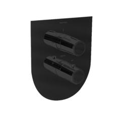 Встраиваемый термостатический смеситель для душа TZAR 342411SNM черный, на 1 выход