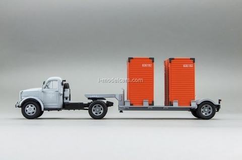 GAZ-51P and T-213 semi gray DIP 1:43