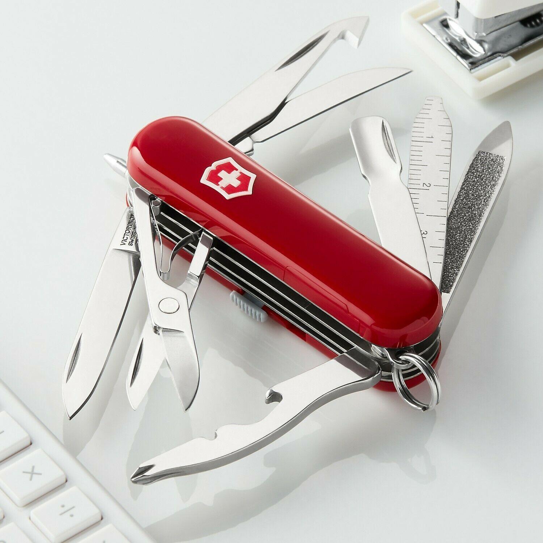 Нож-брелок Victorinox Midnite Mini Champ (0.6386) 58 мм., 16 функций, светодиодный фонарик