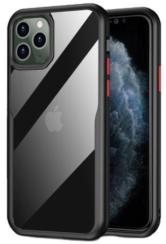 Чехол защитный на iPhone 11 Pro с черными рамками и красными кнопками, серии Ultra Hybrid от Caseport