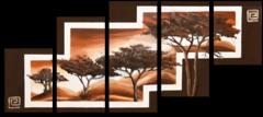 """Модульная картина """"Деревья в горах"""""""