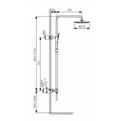 Душевая система KAISER Cezar 05177 с термостатом схема