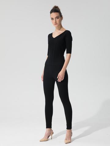 Женский джемпер черного цвета из вискозы - фото 3