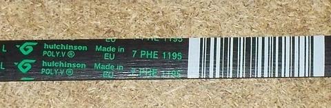 Ремень 8PHE 1195 для стиральной машины Indesit/Ariston (Индезит/Аристон) 1195H7/H8 - 089652 ПРОМО