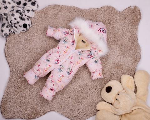 Комбинезон сдельный детский зимний на овчине Look Зайки
