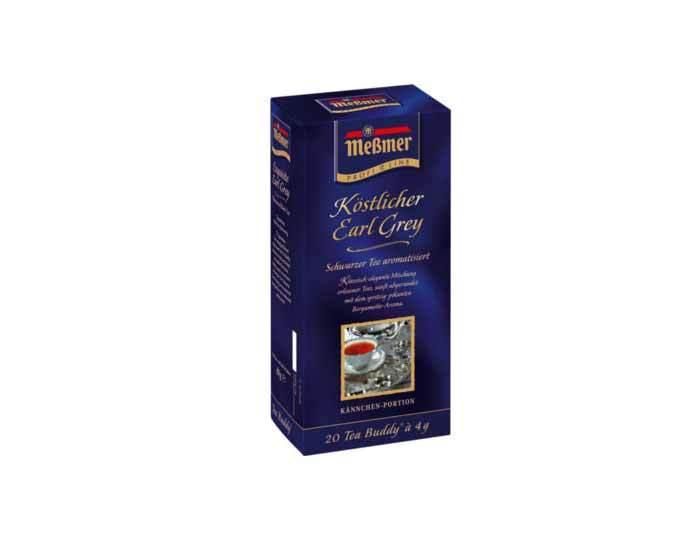 Чай черный в пакетиках Messmer Эрл Грей, 20 пак/уп, 4 г