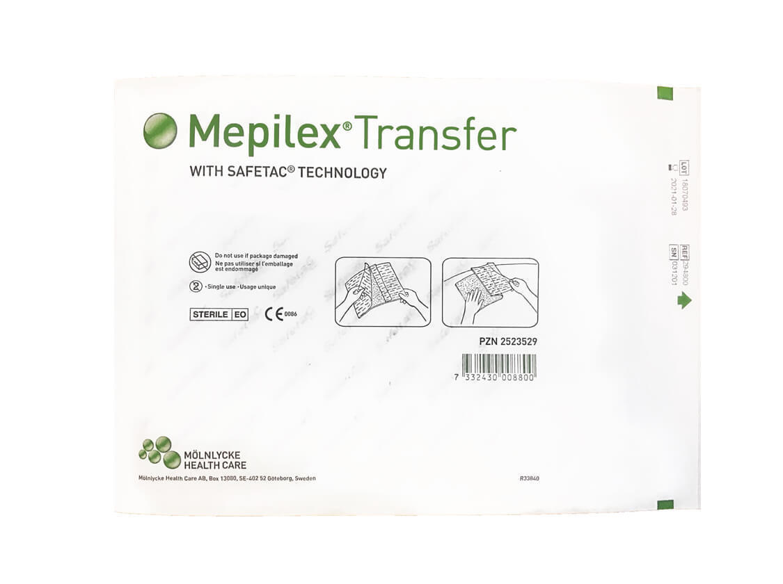 Мепилекс Трансфер 20x50 см - 4 шт в упаковке