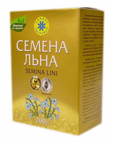 Семена льна, 200 гр. (Компас здоровья)