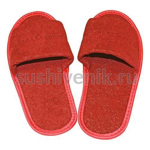 Тапочки для бани бордовые