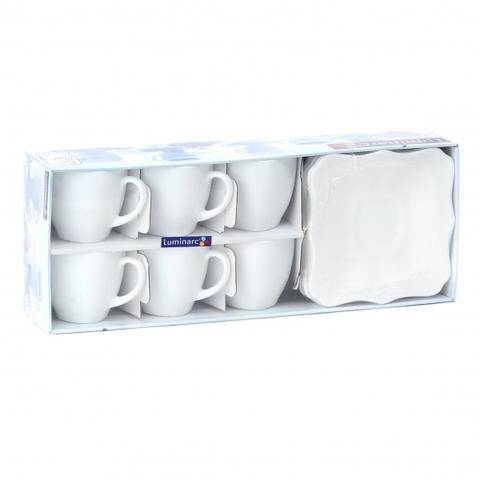 Чайный сервиз Luminarc Authentic White 12 предметов (D8766)