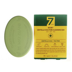 Мыло для проблемной кожи, MAY ISLAND, 7 Days Secret Centella Cica Pore Cleansing Bar, 100г