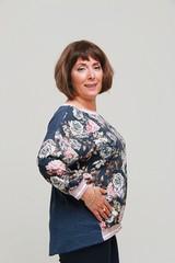 Блузка Largo отделка резинка розы 3/4