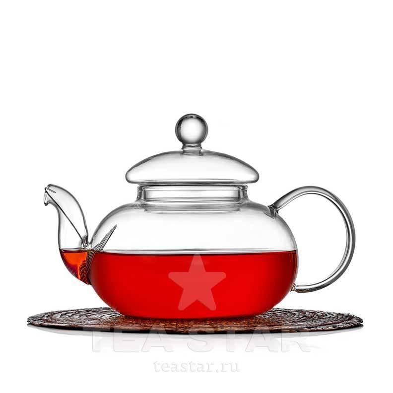 """Заварочные стеклянные чайники Чайник заварочный """"Смородина"""" 600 мл, стеклянный chaynik_zavarochniy_steklyanniy_1-009-600-teastar.jpg"""