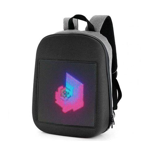 Led-рюкзак с цветным дисплеем и пауербанком