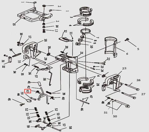Пружина рамки наклона для лодочного мотора T9.8 Sea-PRO (11-43)
