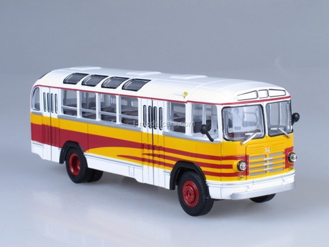ZIL-158A Excursion white-yellow Soviet Bus 1:43